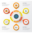 trade flat icons set collection of work man vector image vector image