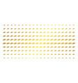 ufo golden halftone effect vector image