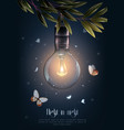 vintage glowing light bulbs poster vector image