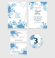 wedding invitation card template modern wedding vector image