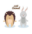 woodland animals wild icon vector image vector image