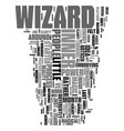 your inner wizard text word cloud concept vector image vector image