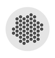 Earphones or microphone grille dots template vector image