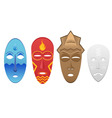 4 elemental masks vector image