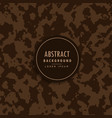 abstract camouflage pattern in brown shade vector image vector image