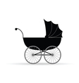 baby carriage in black vector image vector image