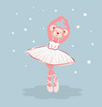 ballerina monkey cartoon character vector image