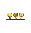 Beer Flight Glass Retro vector image vector image