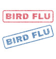 bird flu textile stamps vector image vector image