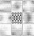 Black and white curved shape pattern design set vector image