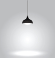 Black ceiling lamp on gray background vector image vector image