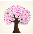 Breast cancer ribbon tree vector image vector image