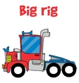 Cartoon big rig of vector image vector image