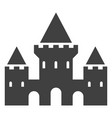 castle black icon fortress with towers silhouette vector image vector image