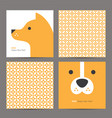 chinese pattern and new year 2018 card with dog vector image vector image