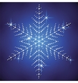 Christmas snowflake on a blue background vector image vector image