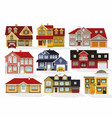 city houses vector image vector image