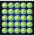 Comic cartoon buttons set vector image vector image