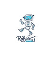 cute little robot for your robotic lessons and vector image vector image