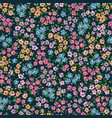 ditsy flowers hand drawn seamless pattern vector image