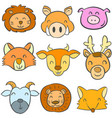 doodle of animal colorful cute collection vector image vector image