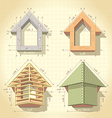 drawing building a house vector image