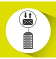 Email communication data center connection