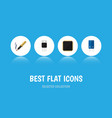 flat icon appliance set of cpu transistor repair vector image vector image