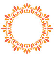 floral basic frame round stamp vector image