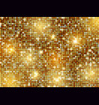 glittery gold background vector image vector image