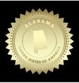 Gold star label Alabama vector image