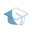 graduation cap accessory education success symbol vector image vector image