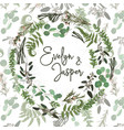 green wreath frame made from twigs and leaves vector image