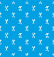haircut pattern seamless blue vector image vector image