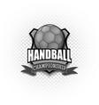 handball logo template design vector image vector image