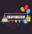 happy birthday sign happy birthday sign vector image