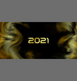 happy new year holiday golden 2021 vector image