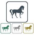 horse icon vector image vector image