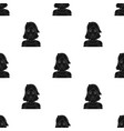 housekeeper icon in black style isolated on white vector image