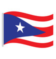 isolated puerto rico flag vector image vector image