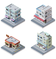 Isometric buildings set vector | Price: 5 Credits (USD $5)