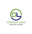 letter dl initial logo vector image
