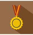 Medal icon flat style vector image vector image