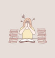 mental stress education frustration learning vector image vector image
