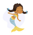 mermaid african character beautiful girl sea nymph vector image