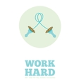Motivational posters of sport healthy lifestyle vector image