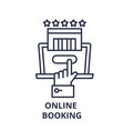 online booking line icon concept online booking vector image vector image