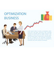 optimization business banner consulting group vector image vector image