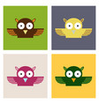 owl - icon design on background vector image