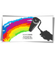 Paint roller in hand painter business card